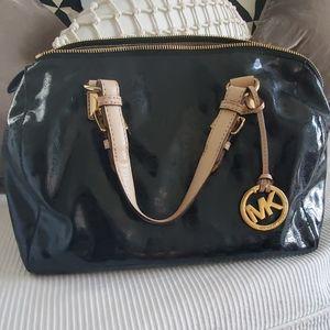 MK vintage patent leather bag